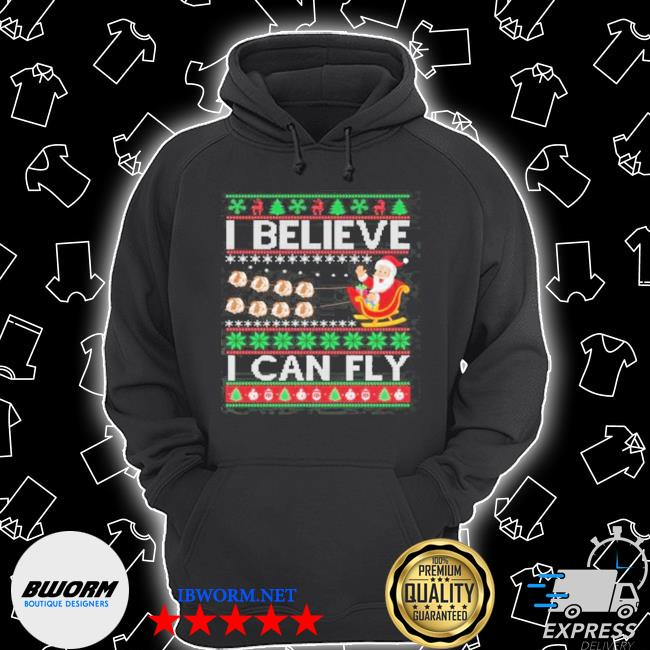 Official i believe i can fly christmas s Unisex Hoodie