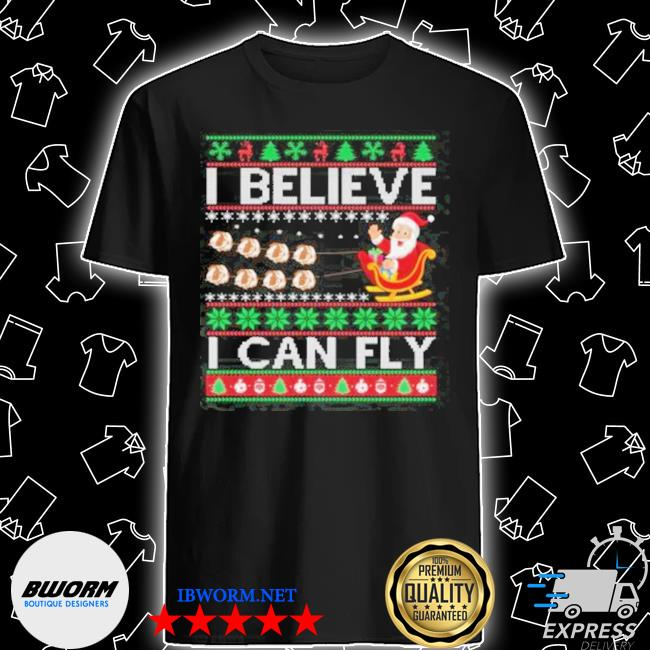 Official i believe i can fly christmas shirt