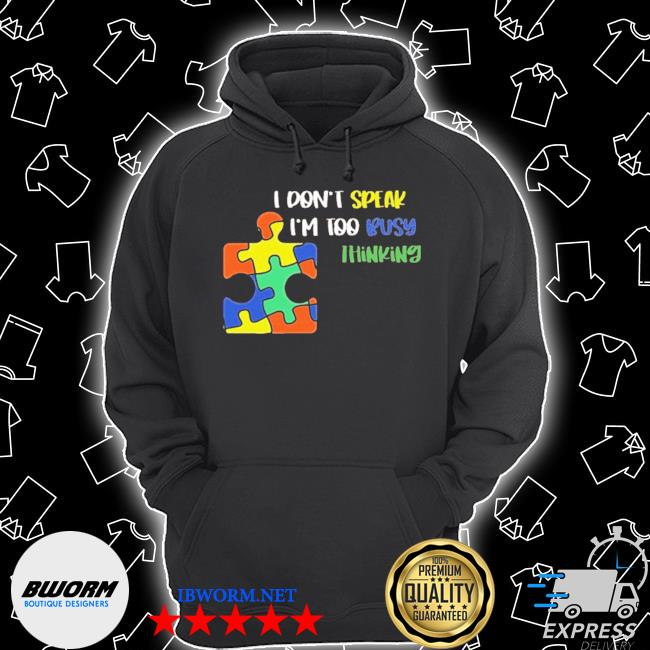 Official i dont speak i am too busy thinking puzzle s Unisex Hoodie