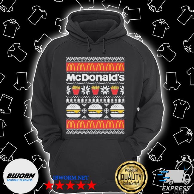 Official mcdonald's ugly christmas s Unisex Hoodie