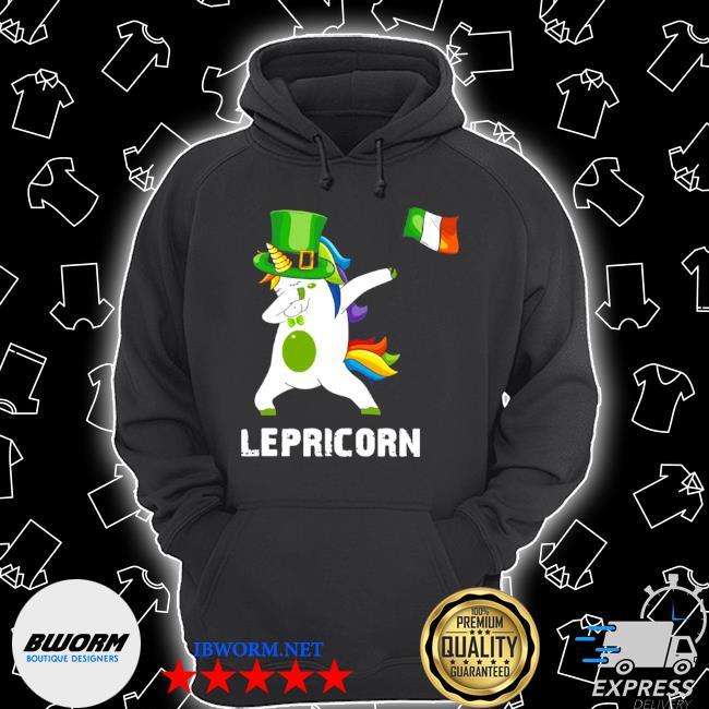 Official st patrick's day unicorn dabbing lepricorn s Unisex Hoodie