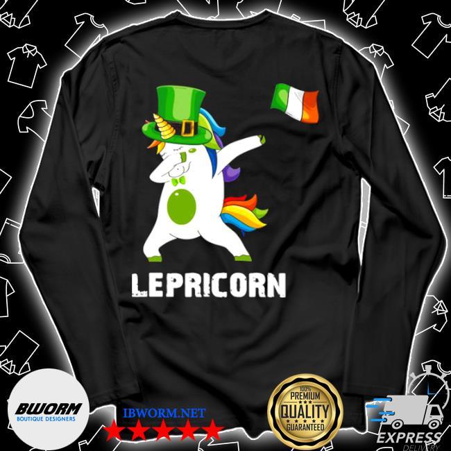 Official st patrick's day unicorn dabbing lepricorn s Unisex Long Sleeve Tee