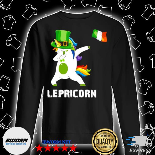 Official st patrick's day unicorn dabbing lepricorn s Unisex Sweatshirt