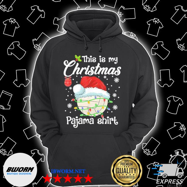 Official this is my christmas pajama volleyball xmas s Unisex Hoodie