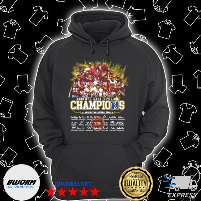 2020 NFC east Division champions Washington football team signatures s Unisex Hoodie