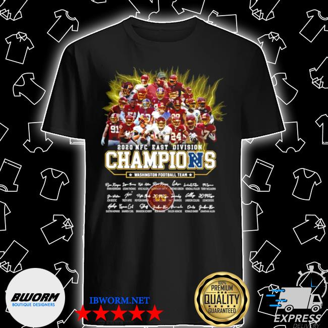 2020 NFC east Division champions Washington football team signatures shirt
