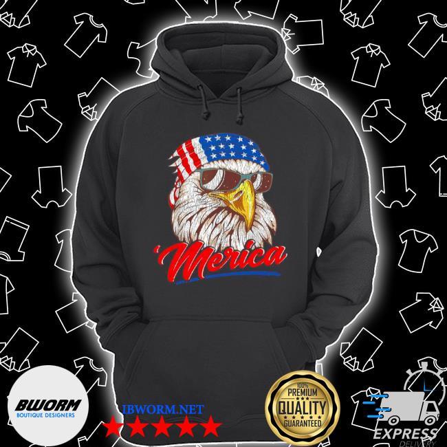 4th of july eagle mullet American flag merica s Unisex Hoodie