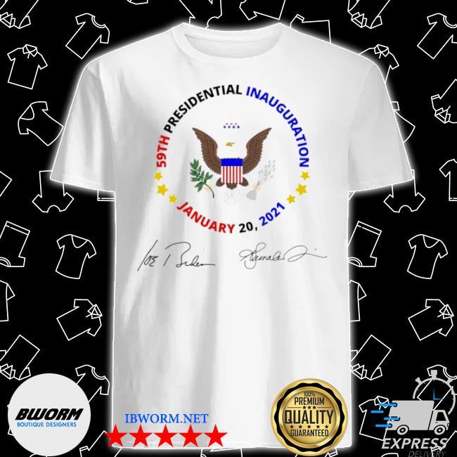 59th presidential inauguration january 20 2021 Joe Biden Kamala Harris signatures shirt
