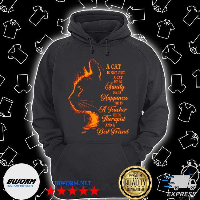 A cat is not just a cat he is janity he is happiness and a best friend s Unisex Hoodie