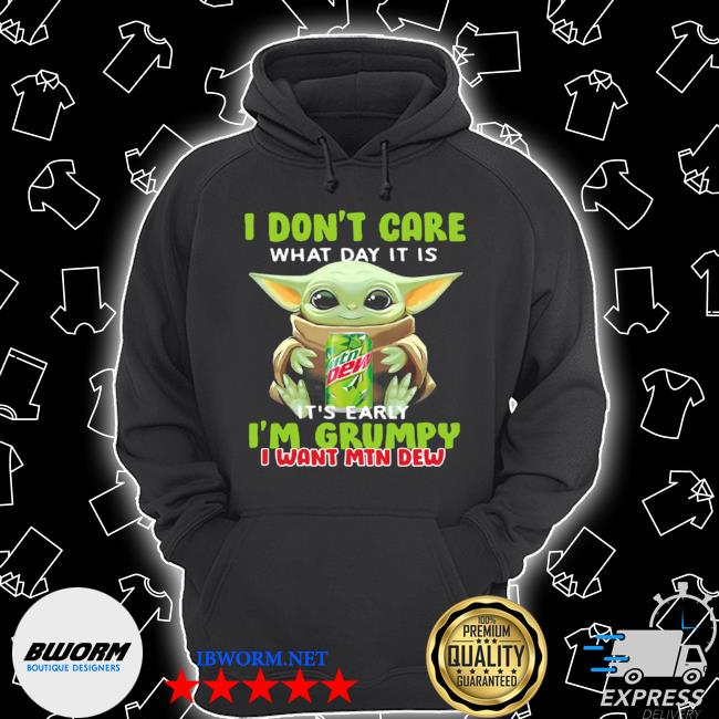 Baby Yoda I don't care its early I'm grumpy s Unisex Hoodie