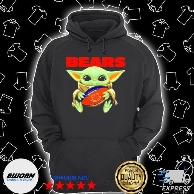 Baby Yoda loves the chicago bears Star wars s Unisex Hoodie