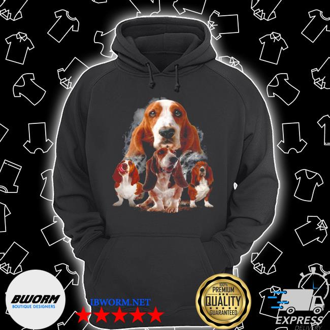Basset hounds smoke happy 2021 s Unisex Hoodie