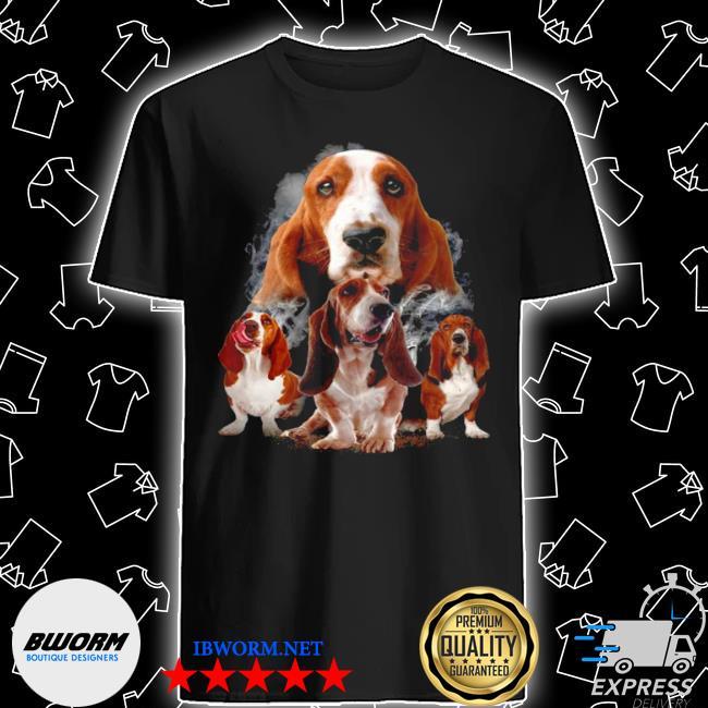 Basset hounds smoke happy 2021 shirt