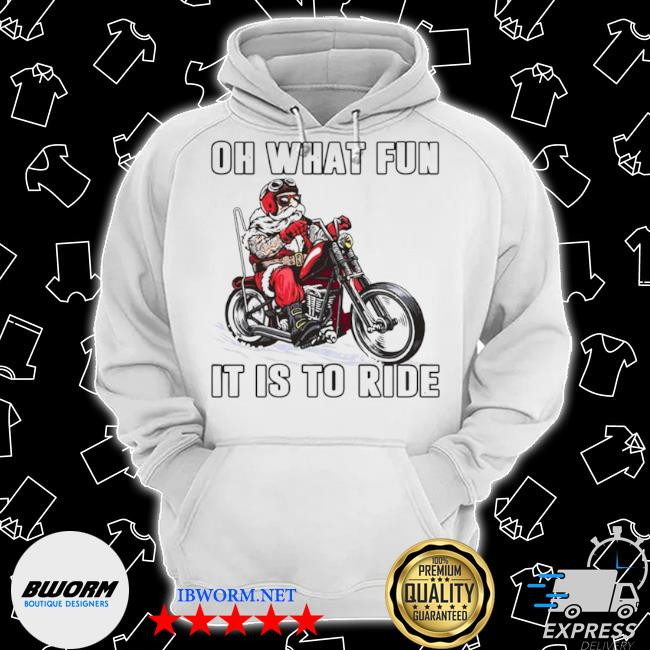 Biker oh what fun it is to ride s Classic Hoodie