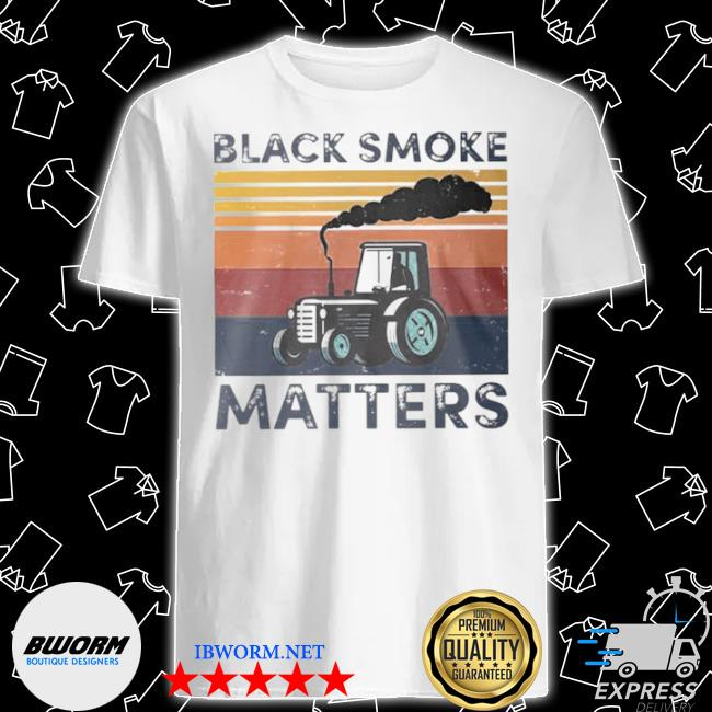Black smoke matter vintage shirt