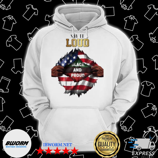Blood in side me say it loud black and proud 2021 flag s Classic Hoodie