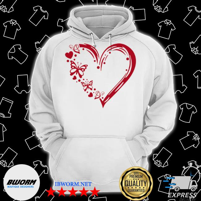 Butterfly 100 hearts s Classic Hoodie