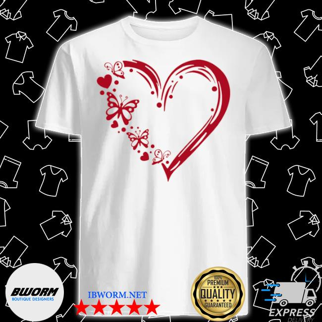 Butterfly 100 hearts shirt