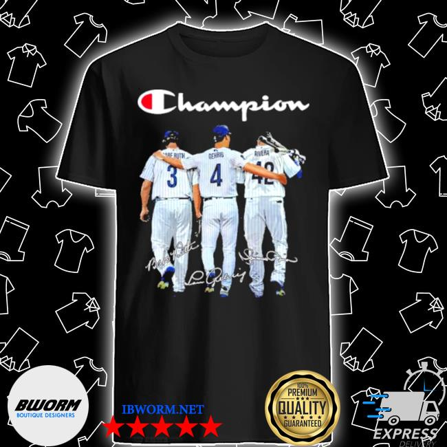Champion babe ruth and gehrig and rivera shirt