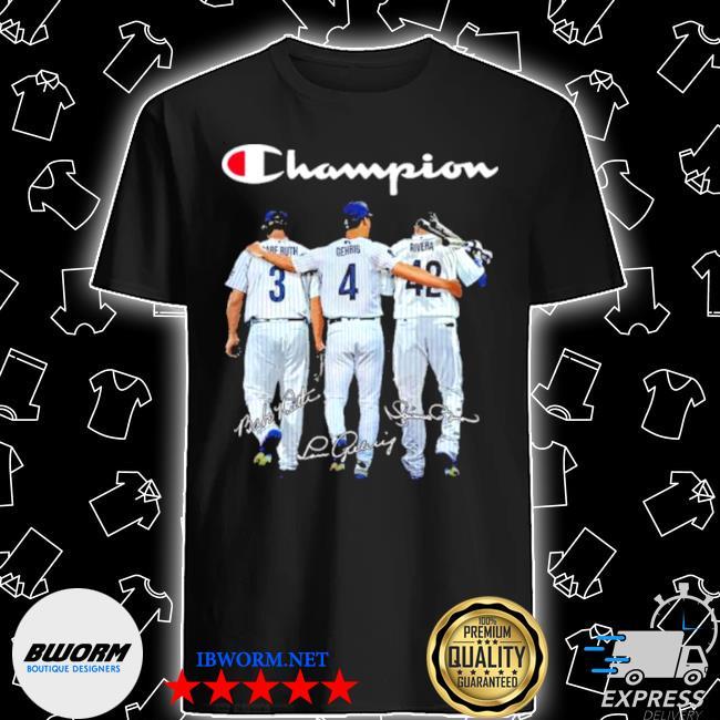 Champion babe ruth and gehrig and rivera shirt