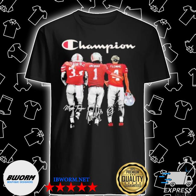 Champion league iiI okudah fleming ohio state buckeyes signatures shirt
