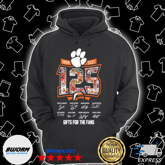 Clemson tigers 125 years of 1896 2021 gifts for the fans signatures s Unisex Hoodie