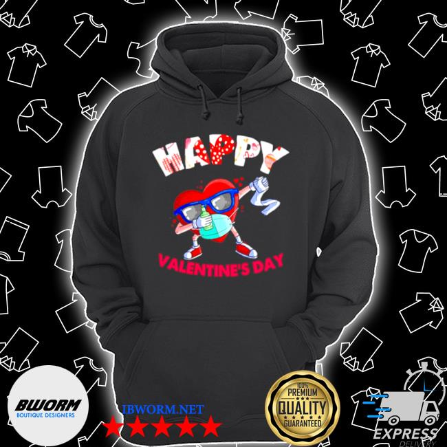 Dabbing heart in mask valentines day 2021 s Unisex Hoodie
