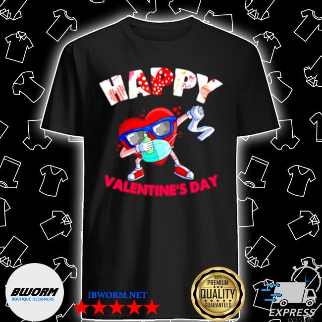 Dabbing heart in mask valentines day 2021 shirt