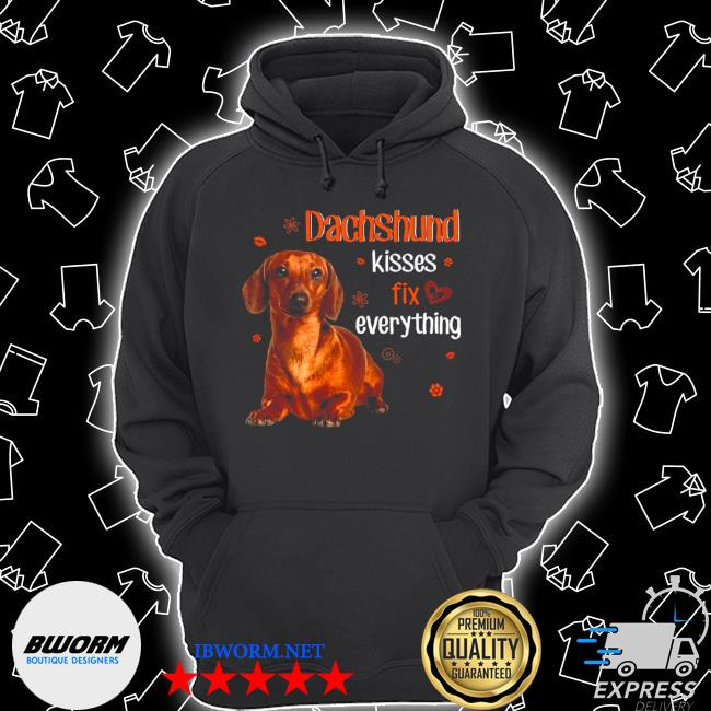 Dachshund kisses fix everything valentine s Unisex Hoodie
