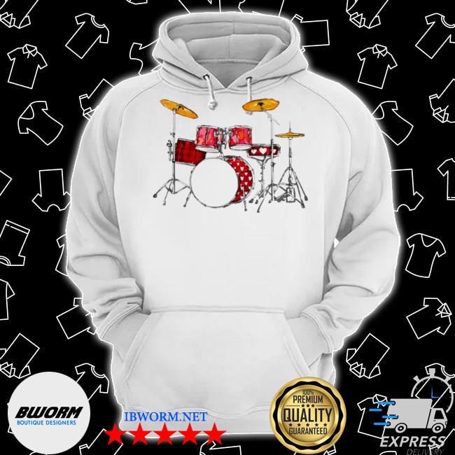 Drum band music valentine's day s Classic Hoodie