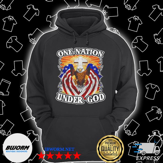 Eagles American flag one nation under god s Unisex Hoodie