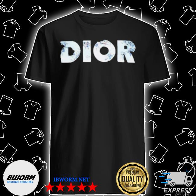 Erorded logo dior black cotton jersey with dior and daniel arsham eroded logo 3d print shirt