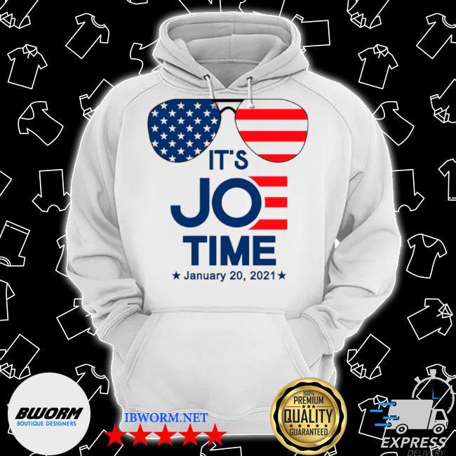 Glasses American flag its Joe time january 20 2021 s Classic Hoodie