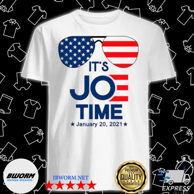 Glasses American flag its Joe time january 20 2021 shirt