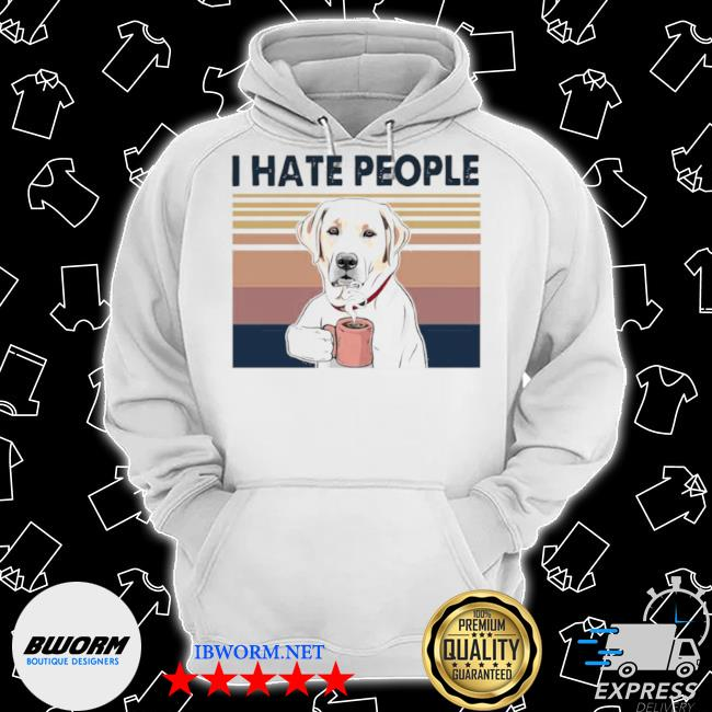Golden retriever retriever drink coffee I hate people vintage 2021 s Classic Hoodie