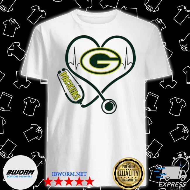 Heartbeat nurse green bay packers shirt