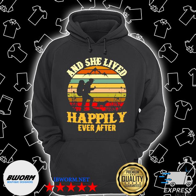Hiking and she lived happily ever after vintage retro s Unisex Hoodie
