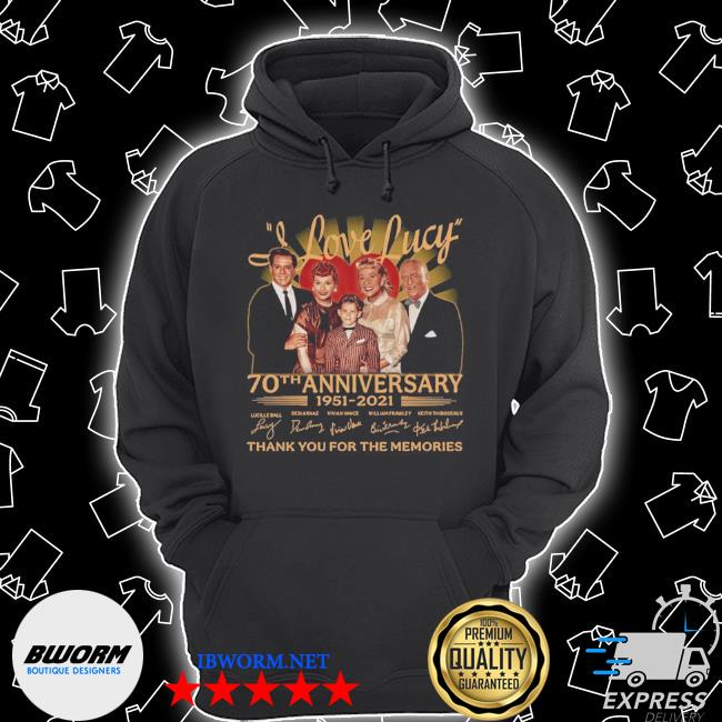 I love lucy 80th anniversary 1951 2021 thank you for the memories signatures s Unisex Hoodie