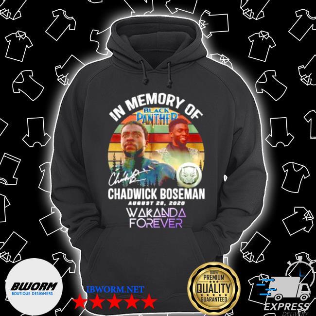 In memory of black panther chadwick boseman august 28 2020 vintage s Unisex Hoodie