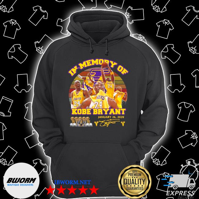 In memory of kobe bryant january 26 2020 signature vintage s Unisex Hoodie