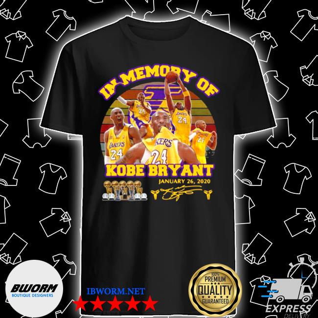 In memory of kobe bryant january 26 2020 signature vintage shirt
