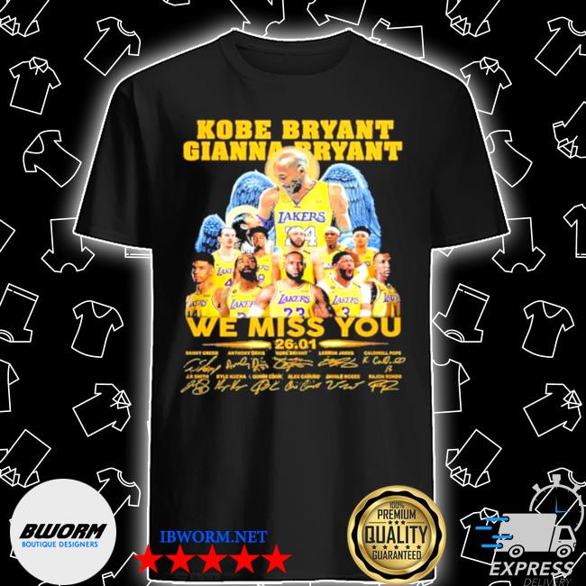 Kobe bryant gianna bryant we miss you shirt