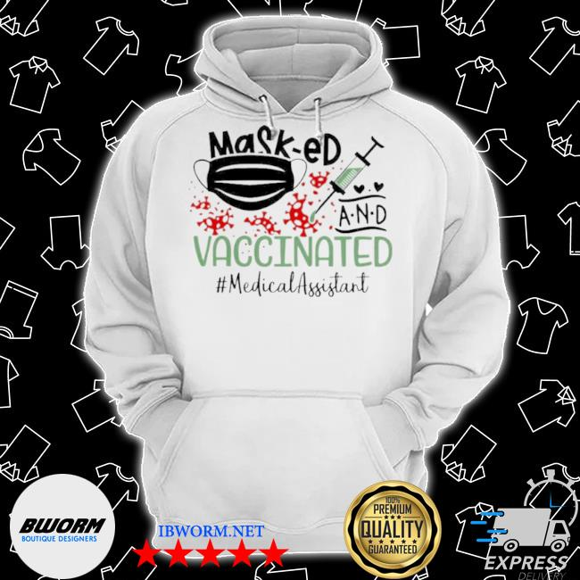 Masked and vaccinated medical assistant 2021 s Classic Hoodie