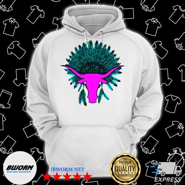 Native American hat with cattle s Classic Hoodie