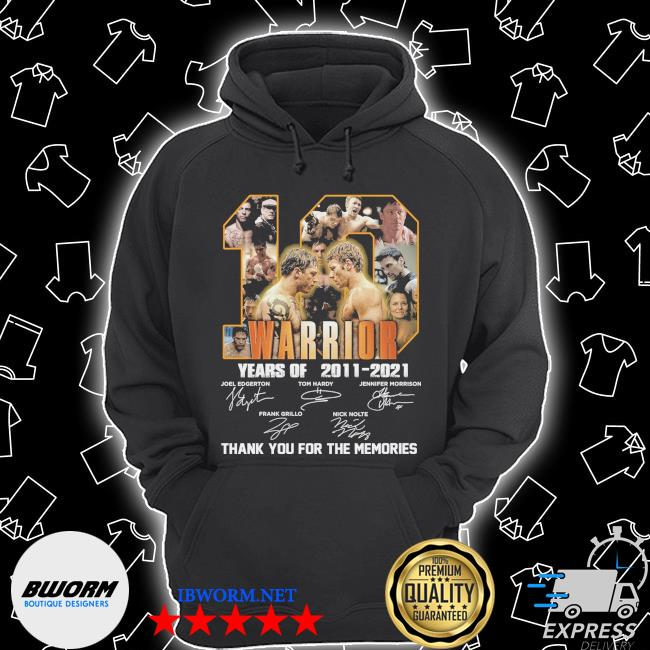 Official 10 warrior years of 2011 2021 signatures thank you for the memories s Unisex Hoodie