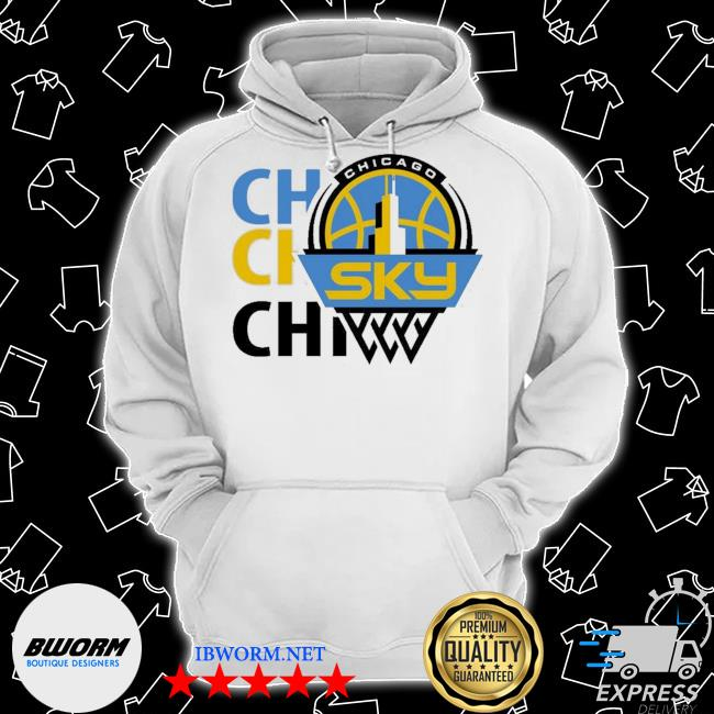 Official 2020 chicago sky fanatics branded white marble s Classic Hoodie