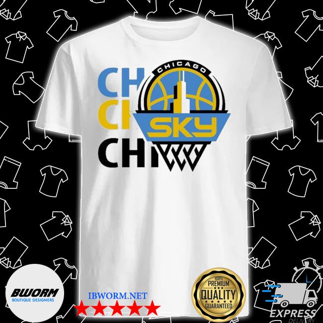 Official 2020 chicago sky fanatics branded white marble shirt
