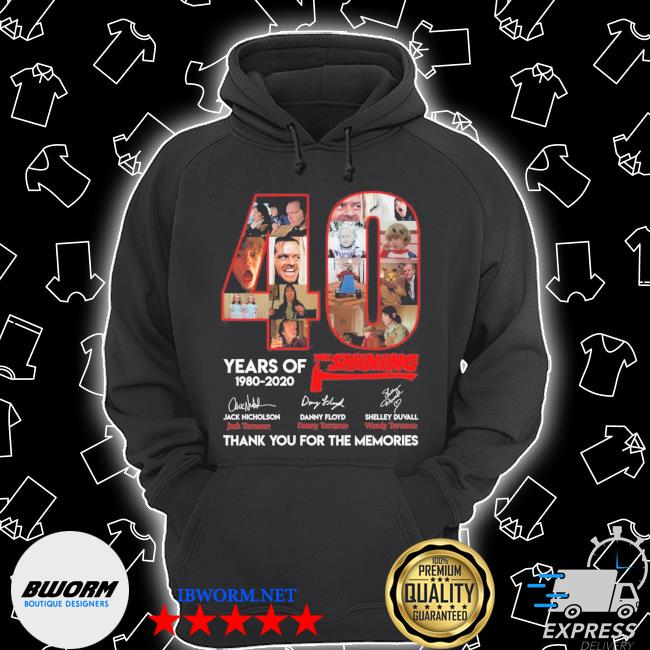 Official 40 years of the shining signatures thank you for the memories s Unisex Hoodie