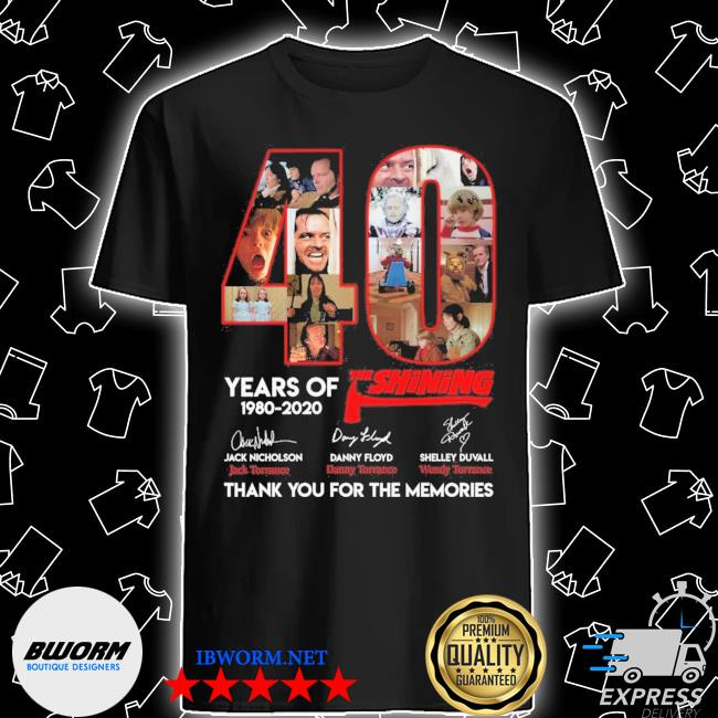 Official 40 years of the shining signatures thank you for the memories shirt