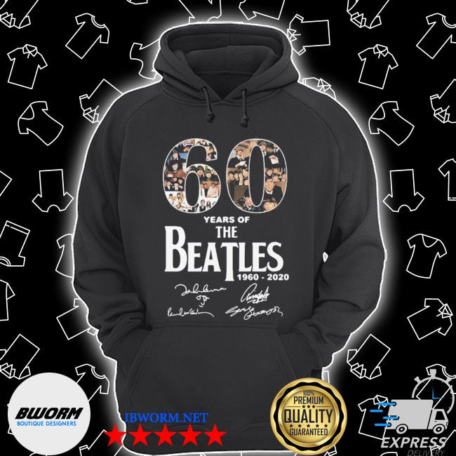 Official 60 years of the beatles 1960 2020 signatures s Unisex Hoodie